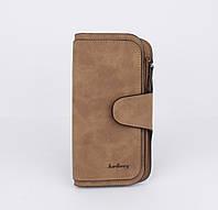 Вместительный женский кошелек Baellerry 843 коричневый, фото 1