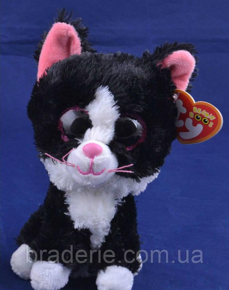 Мягкая игрушка Кот глазастый Зоопарк 96025 15см