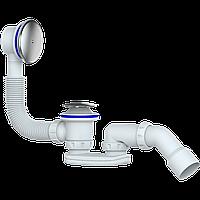 Сифон для ванни DN40/50, хром, система click-clack метал.