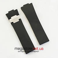 Каучуковый ремешок для часов Ulysse Nardin black silver (05588), фото 1