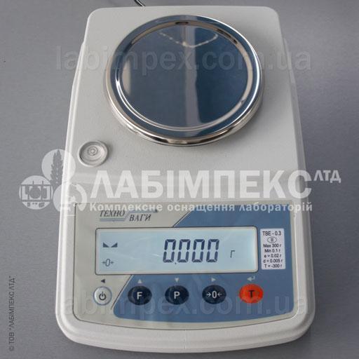 Весы лабораторные ТВЕ-0.3-0.005-а-2, 300 г х 0.005 г, 2 кл, внутренняя градуировка