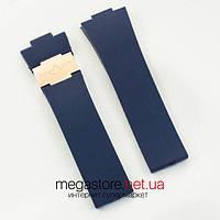 Каучуковый ремешок для часов Ulysse Nardin maxi marine blue gold (05691), фото 1