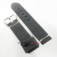 Кожаный ремешок для часов Panerai black 24mm (05747), фото 1