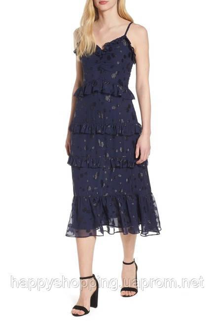 Женское оригинальное синее миди платье популярного американского бренда Michael Kors