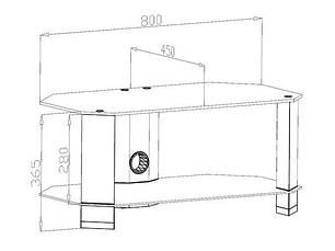 "Стол для ТВ LCD/LED CO 80-11 до 32"", фото 3"