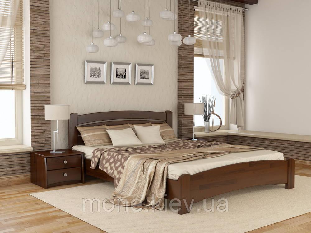 Кровать полутороспальная Венеция Люкс деревянная из бука