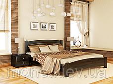 Кровать полутороспальная Венеция Люкс деревянная из бука , фото 3