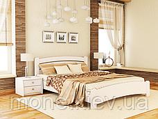 Кровать полутороспальная Венеция Люкс деревянная из бука , фото 2