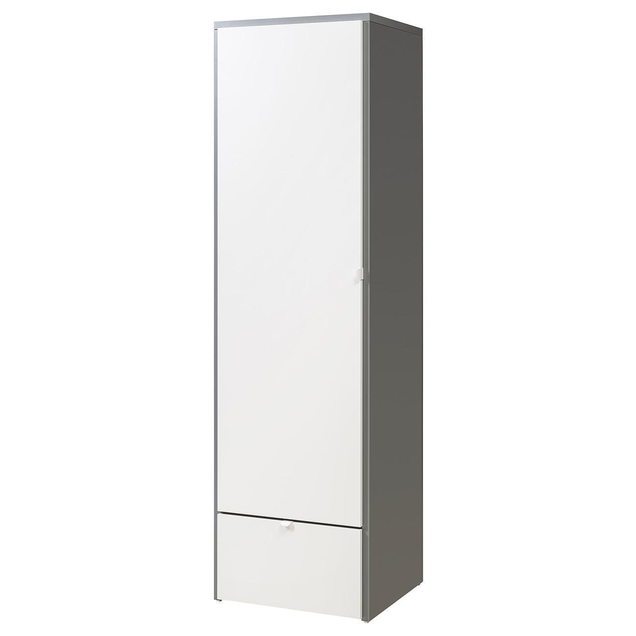 IKEA VISTHUS (003.476.14) Шкаф/гардероб, серый, белый
