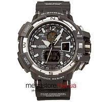 Мужские наручные часы Casio g-shock gwa-1100 black white (05848) реплика