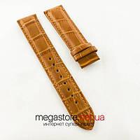 Кожаный ремешок для часов Patek Philippe sky moon brown (05896)