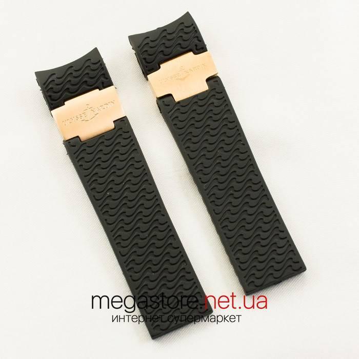 Для часов ремешок Ulysse Nardin maxi marine diver gold black (05918)