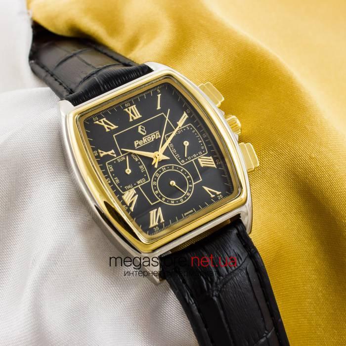 5c39952b Мужские наручные часы Рекорд black gold silver (05938), цена 1 199 грн.,  купить Київ — Prom.ua (ID#276578190)