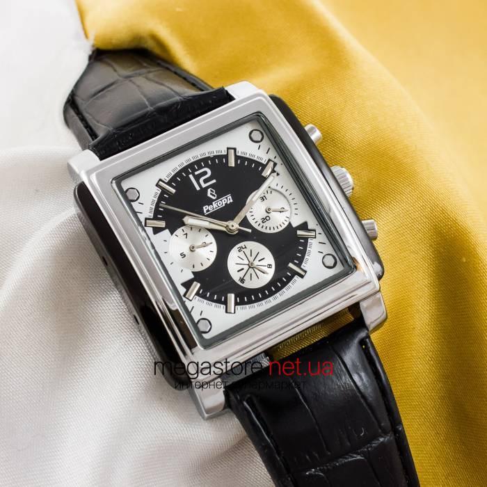 7c72fbbc Мужские наручные часы Рекорд silver black (05941), цена 910,80 грн., купить  в Киеве — Prom.ua (ID#276578193)