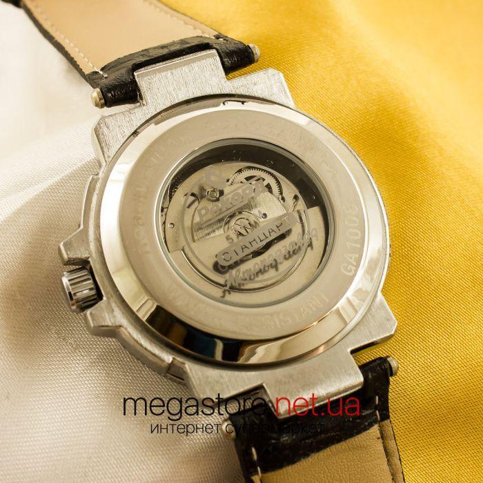 d118b4ba Описание Мужские наручные часы Рекорд black silver white (05946). Бренд::  Рекорд Сборка:: Россия Тип механизма:: Механика с автоподзаводом