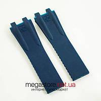 Каучуковый ремешок для часов Ulysse Nardin el toro dual time blue (05971), фото 1