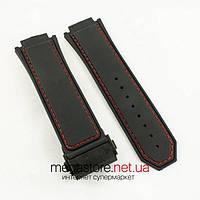 Для часов ремешок Hublot king power f1 black 30мм с застежкой black 24мм (06135)