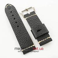 Кожаный ремешок для часов Panerai 26мм black (06277)