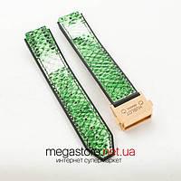 Для часов ремешок Hublot big bang woman green с застежкой gold (06292), фото 1