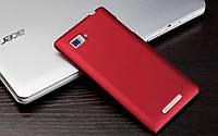 Пластиковый чехол для Lenovo K910 Vibe Z бордовый, фото 1