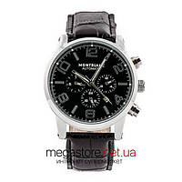Мужские наручные часы Montblanc black silver (06336) реплика