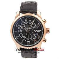 Мужские наручные часы Montblanc flyback gold black (06337) реплика
