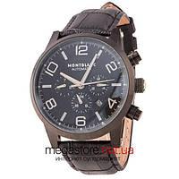 Мужские наручные часы Montblanc time walker all black (06340) реплика