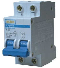 Автоматический выключатель АСКО ВА-2001 25А 2Р