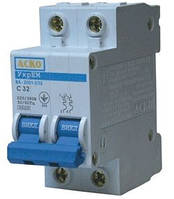 Автоматический выключатель АСКО ВА-2001 63А 2Р