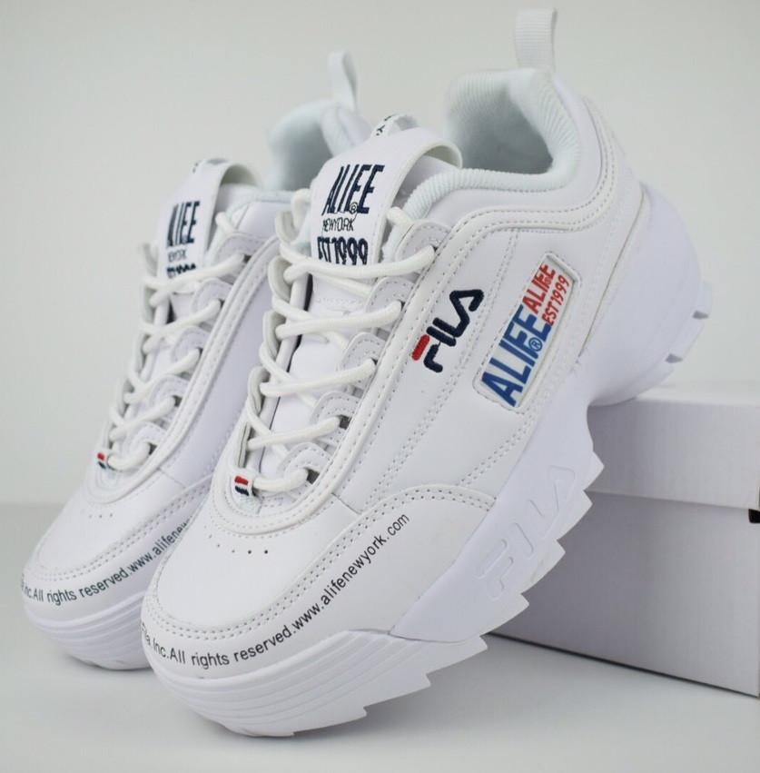 917dcaecc7971d Женские кроссовки в стиле Fila Disruptor 2 x ALIFE белые. Живое фото ...
