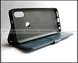 K'try темный синий чехол книжка + портмоне Xiaomi Redmi Note 5 Pro в коже PU, фото 7