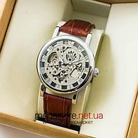 Механические мужские копия часы Rolex silver silver (06616) реплика