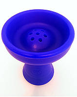 Чаша для кальяна силиконовая наружная (с выемкой под калауд или без), (классика или фанел на Ваш выбор) Синий
