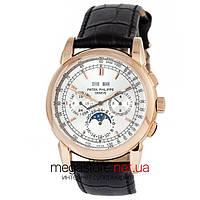 Мужские наручные механические часы Patek Philippe grand complications gold white (06719) реплика