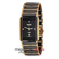 Женские наручные часы Rado integral diamonds gold black (06721) реплика