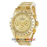 Мужские копия механические часы Rolex daytona gold gold (06725) реплика