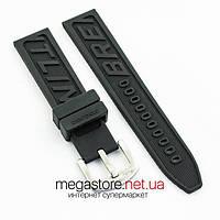 Для часов ремешок для часов Breitling 22 мм black с застежкой (06779), фото 1