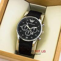 Мужские наручные часы Emporio Armani silver black (06793) реплика, фото 1