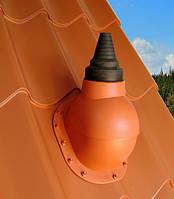Антенный выход для антенн и труб 12-90 мм  Kronoplast PABX для металлочерепицы очень высокий профиль до 45 мм. Терракота