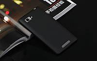 Пластиковый чехол для Lenovo K910 Vibe Z черный