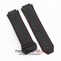 Для часов ремешок Hublot king power f1 black 26 мм с застежкой black 24 мм (06810), фото 1