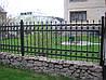 Металлический забор с ковкой