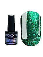 Гель лак Oxxi Star Gel №007 (зеленый , с блестками и слюдой) 8 мл