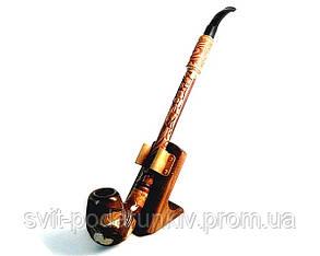 Курительная трубка длинная с резьбой «Беркут», оригинальный подарок, фото 2