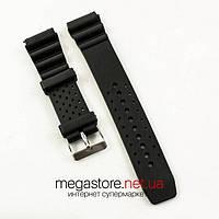 Каучуковый для часов ремешок Casio black 22 мм (06869), фото 1