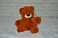 Плюшевый медведь Бублик 45 см коричневый