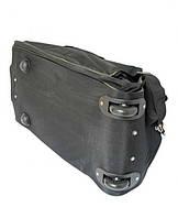 Черная овальная дорожная сумка на колесах  E-Fancy