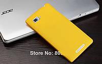 Пластиковый чехол для Lenovo K910 Vibe Z желтый