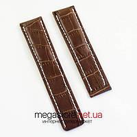 Для часов кожаный ремешок Breitling brown 22 мм (06970), фото 1