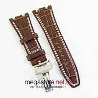 Для часов ремешок Audemars Piguet brown 28 мм (06977), фото 1